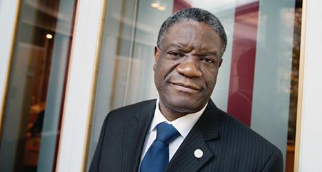 Denis Mukwege fick Leva Rätt-priset. Foto: Jessica Gow/TT.