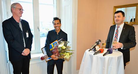 Timbuktu fick pris för sitt arbete mot rasism. Foto: Henrik Montgomery/TT.