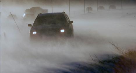 Stormen ställde till stora problem på vägarna. Foto: Johan Nilsson/TT.