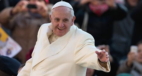 Påven Franciskus har fått ett fint pris. Foto: Alessandra Tarantino/TT.