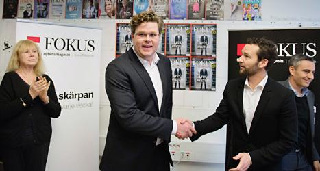 Tidningen Fokus säger att Gunnar Strömmer är årets svensk. Foto: Jessica Gow/TT.
