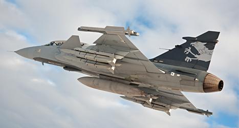 Brasilien ska köpa stridsflygplanet Jas för 30 miljarder kronor. Foto: Stefan Kalm /Saab /TT