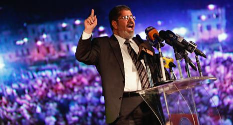 Muhammed Mursi kan straffas för mord. Foto: AP/Fredrik Persson /TT