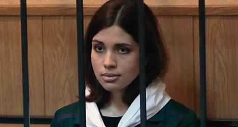Nadezha Tolokonnikova är en av medlemmarna i Pussy Riot som ska släppas. Foto: Mikhail Metzel /AP /TT