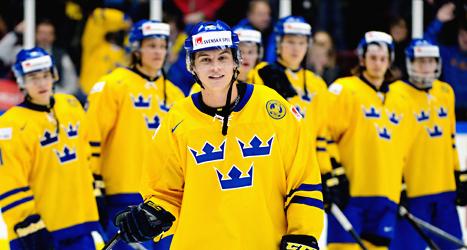 André Burakovsky fick pris som bästa spelare i matchen mot Norge. Foto: Ludvig Thunman/TT.