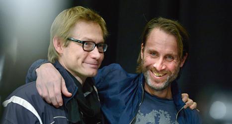 Magnus Falkehed och Niclas Hammarström är hemma igen. Foto: Janerik Henriksson/TT