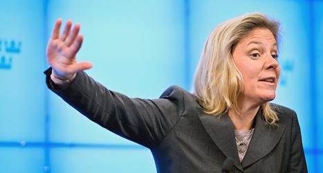 Magdalena Andersson har hand om den ekonomiska politiken hos socialdemokraterna. Foto: Henrik Montgomery / TT