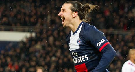 Zlatan Ibrahimovic blev hjälte igen. Foto: Jacques Brinon/TT