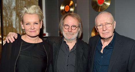 Eva Dahlgren, Benny Andersson från Abba och Ulf Dageby  från Nationalteatern i det nya musikmuseet Hall of Fame. Foto: Henrik Montgomery/TT.
