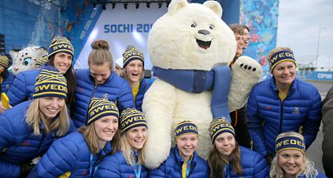 Svenska idrottare i OS-byn i Sotji i Ryssland. Foto: Vadim Garda/ TT.