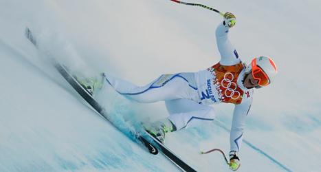 Kajsa Kling lyckades inte i störtloppet. Foto: Charles Krupa /AP /TT