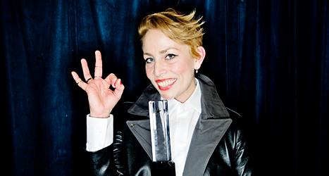 Musikern Jenny Wilson fick totalt tre priser på Grammisgalan. Foto: Erik Mårtensson /TT-