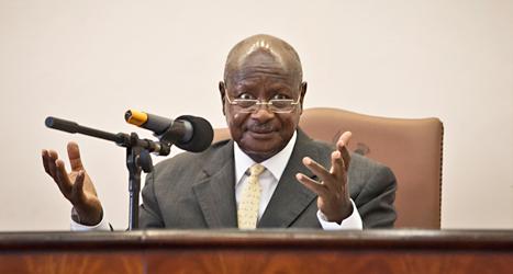 Ugandas president Yoweri Museveni. Foto: Rebecca Vaccie /AP /TT.