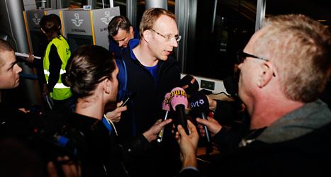 Björn Waldebäck slutar jobbet som läkare för landslaget. Foto: Robin Haldert /TT.