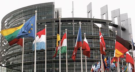 I Europaparlamentet jobbar fler än 700 politiker från olika länder. Foto: AP /TT