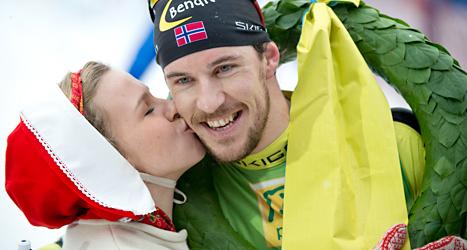 Johan Kristian Dahl från Norge vann Vasaloppet. Foto: Ulf Palm/TT.