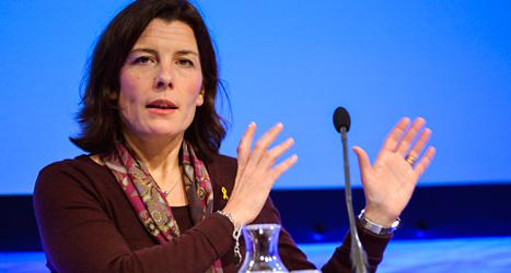 Sveriges försvarsminister Karin Enström. Foto: Henrik Montgomery / TT.