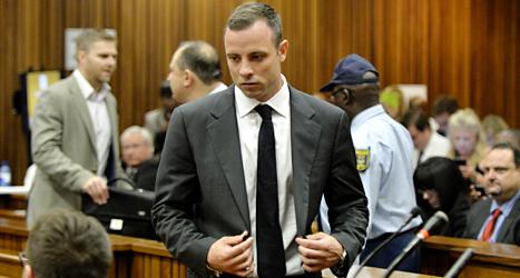 Oscar Pistorius i domstolen. Foto: Herman Verwey/TT.