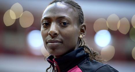 Abeba Aregawi från Sverige kan ta guld i VM på 1500 meter. Foto:Janerik henriksson/TT.