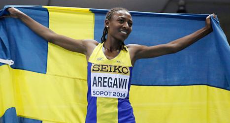 Abeba Aregawi vann VM-guld på 1500 meter löpning. Foto: Matt Dunham/TT.