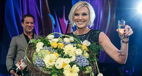 Sanna Nielsen får sjunga för Sverige i finalen i Eurovision Song Contest. Foto: Fredrik Persson/TT.