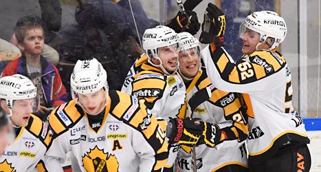 Skellefteå vann mot HV71. Foto: Mikael fritzon/TT.