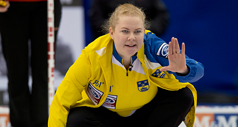 Sveriges lagkapten Margaretha Sigfridsson. Foto: Andrew Vaughan/TT.