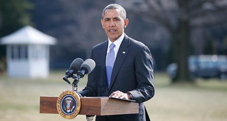 USAs president Barack Obama säger att Ryssland ska straffas. Foto: Charles Dharapak/TT.