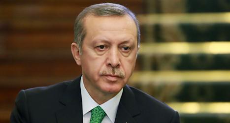 Turkiets ledare Recep Tayip Erdogan. Foto: Ebrahim Noroozi/TT.