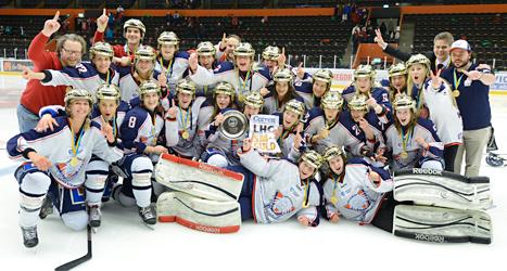 Linköping är svenska mästare i ishockey. Foto: Håkan Nordström/TT