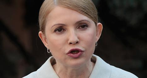 Julia Tymosjenko ska försöka bli president i landet Ukraina. Foto: Sergei Chuzavkov/TT.