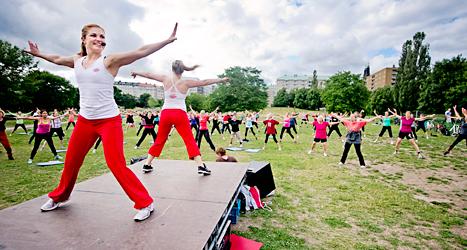 Träning med Friskis och Svettis. En halv miljon svenskar tränar med Friskis och Svettis. Foto: Erik Mårtensson/Scanpix