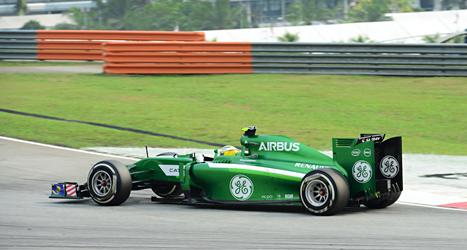 Marcus Eriksson kom på plats 14 i tävlingen i Malaysia. Foto: Peter Nygaard/TT.