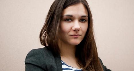 Amelia Andersdotter är politiker för Piratpartiet. Foto: Tess Lindholm