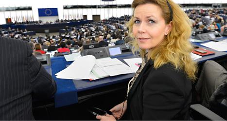 Cecilia Wikström jobbar i Europaparlamentet i Strasbourg, Frankrike. Foto: EU