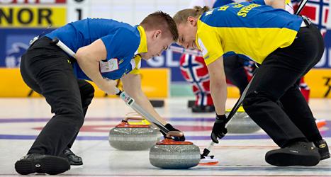 Sverige förlorade VM-finalen i curling mot Norge. Foto: Andy Wong/TT.