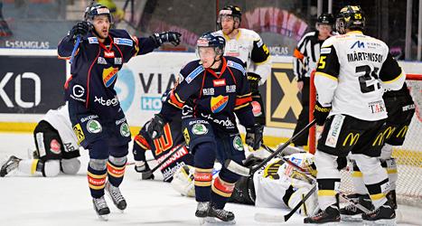 Djurgården vann mot Västerås med 6-2. Foto: Anders Wiklund/TT.