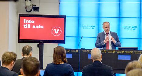Jonas Sjöstedt är ledare för Vänsterpariet. Foto: Bertil Ericsson/TT.