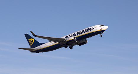 Flygbolaget Ryanair är ett av de företag som svenskarna tycker sämst om. Foto: Berit Roald/TT.