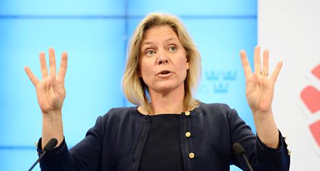 Magdalena Andersson säger att flera skatter måste höjas. Foto: Leif R Jansson/TT.