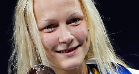 Sarah Sjöström simmar riktigt snabbt just nu. Foto: Michael Sohn/TT.