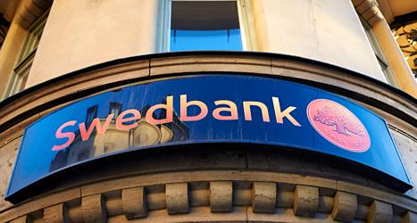 Swedbanks datorer slutade fungera på torsdagen. Kunderna kunde inte ta ut några pengar. Foto: Fredrik Persson/TT.