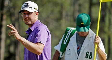 Jonas blixt överraskade stort i golftävlingen US Masters. Han blev tvåa i tävlingen. Foto: Chris Carlson/TT.