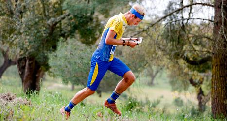 Fredrik Johansson tog brons i Europamästerskapet i orientering. Foto: Sören Andersson/TT.
