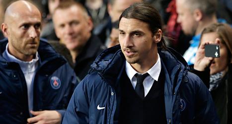 Zlatan kan spela i PSGs match mot Rennes i nästa vecka.  Det säger PSGs läkare. Foto: Matt Dunham/TT.