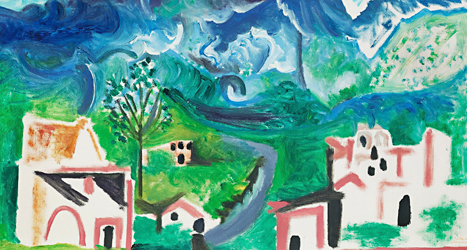 Picassos tavla blev väldigt dyr. Tavlan är lite större än vad som syns på bilden. Foto: Bukowskis/TT.