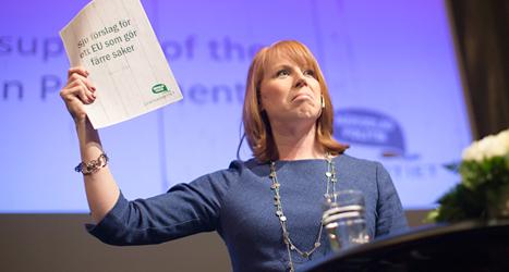 Centerpartiets ledare Annie Lööf vill att EU ska bestämma mindre. Foto: TT