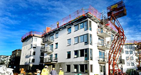 Socialdemokraterna vill bygga fler hus med lägenheter. Foto: SvD /TT