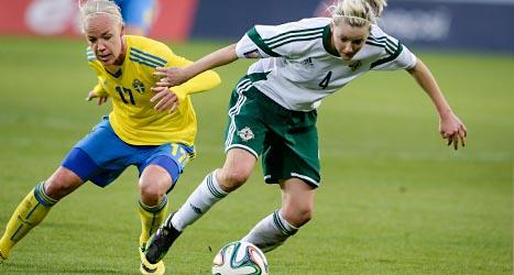 Sverige vann mot Nordirland i fotboll. Foto: Mikael Fritzon/TT.