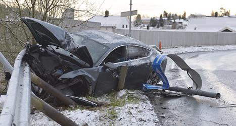 Skidåkaren Petter Northug körde bil när han var full, och kraschade. Foto: Henrik Sundgård/TT.